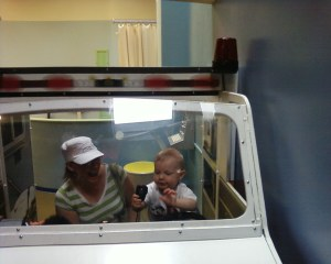 Driving the ambulance like Auntie Boo